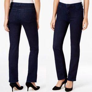 NYDJ Marilyn Short Straight Dark Jeans NWOT NEW